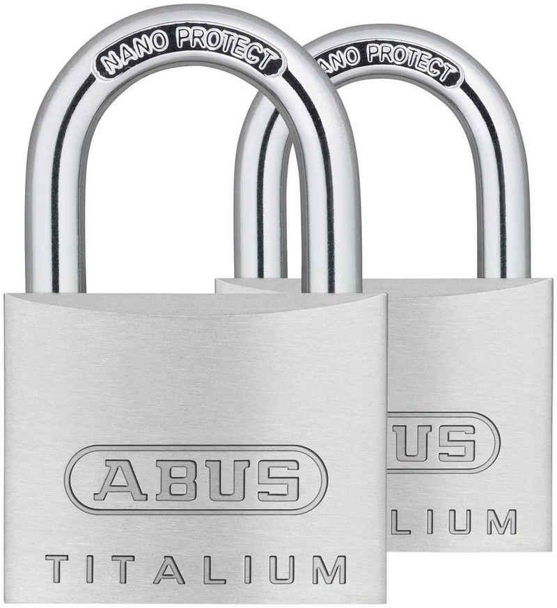 ABUS Vorhängeschloss »64TI/40 Twins B/SB«, (Set, 2-tlg), Spezialaluminium und Stahlbügel