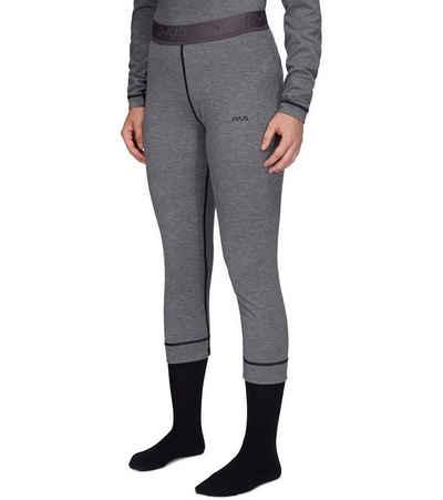 PYUA Stoffhose »PYUA Leap 3/4-Hose komfortable Damen Unterhose mit besten Feuchtigkeitsmanagement Ski-Unterwäsche Grau«
