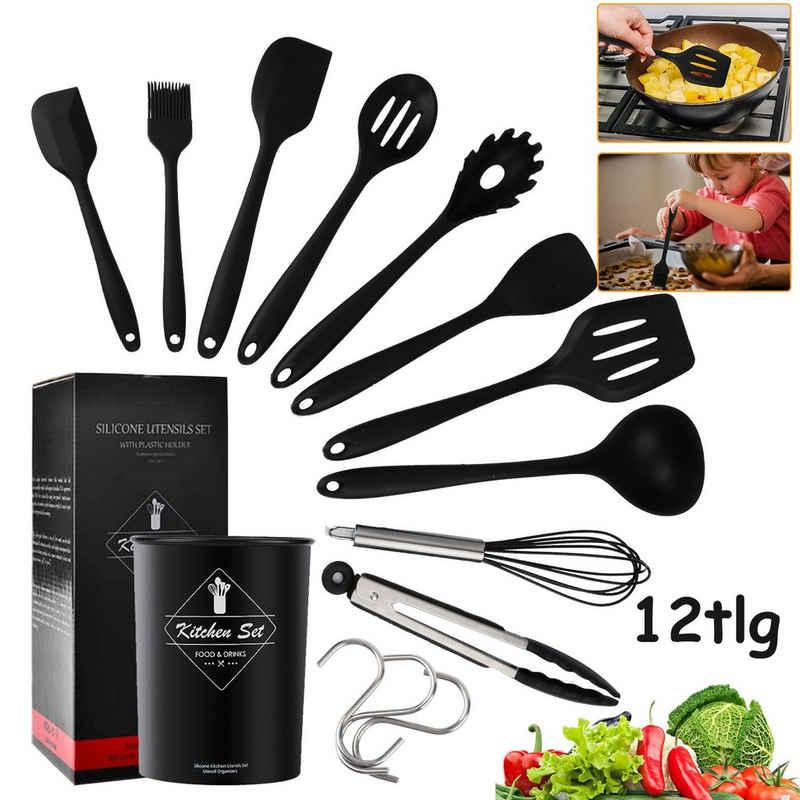 Einfeben Kochbesteck-Set »Küchenhelfer Silikon Kochbesteck BBQ 12 tlg set« (12-tlg)