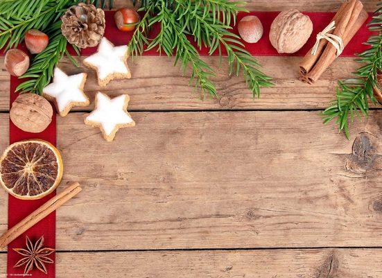 Platzset, »Tischsets I Platzsets abwaschbar - Weihnachten - Zimtsterne Allerlei - aus erstklassigem Vinyl (Kunststoff) - 4 Stück - 44 x 32 cm - rutschfeste Tischdekoration«, cover-your-desk.de, (4-St)