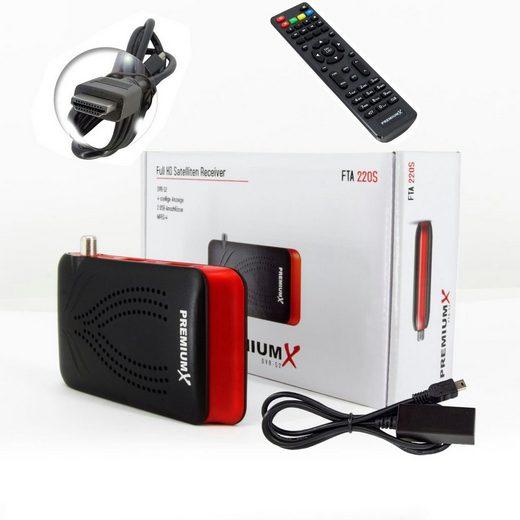 PremiumX »Mini HD FTA 220S Digital Satelliten-Receiver DVB-S2 HDMI USB FULLHD HDTV« SAT-Receiver