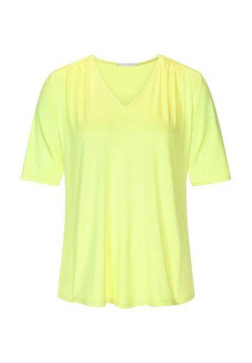 Mey Kurzarmshirt »Mey Damen Kurzarm T-Shirt Loungewear gelb-grün«