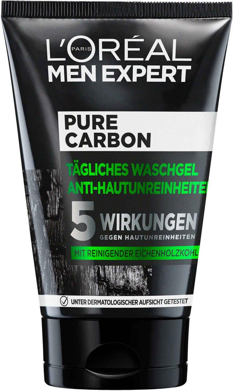 L'ORÉAL PARIS MEN EXPERT Gesichtsreinigungsgel »Pure Charcoal«, beseitigt Pickel, Mitesser & fettige/ölige Haut