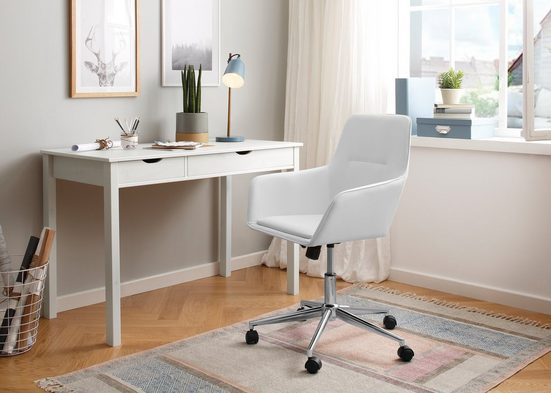 my home Drehstuhl »Marit« (Set, 1 Stück), in verschiedenen Farbvarianten erhältlich, inklusive einer Sitzhöhenverstellung, verchromtes Fußkreuz