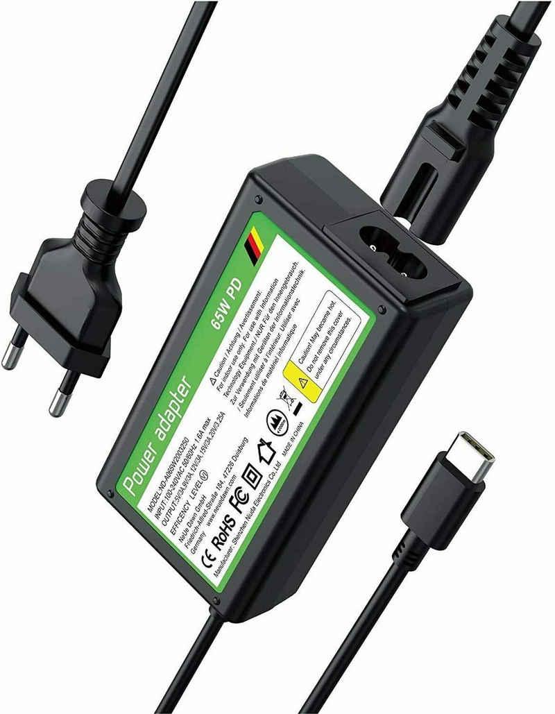 muchen »65w USB C Ladegerät Type-C PD Netzteil für HP Chromebook 11 G6 EE, Chromebook 14-ca061dx 14-ca020nr 14-ca060nr Laptop Ladekabel« Notebook-Netzteil