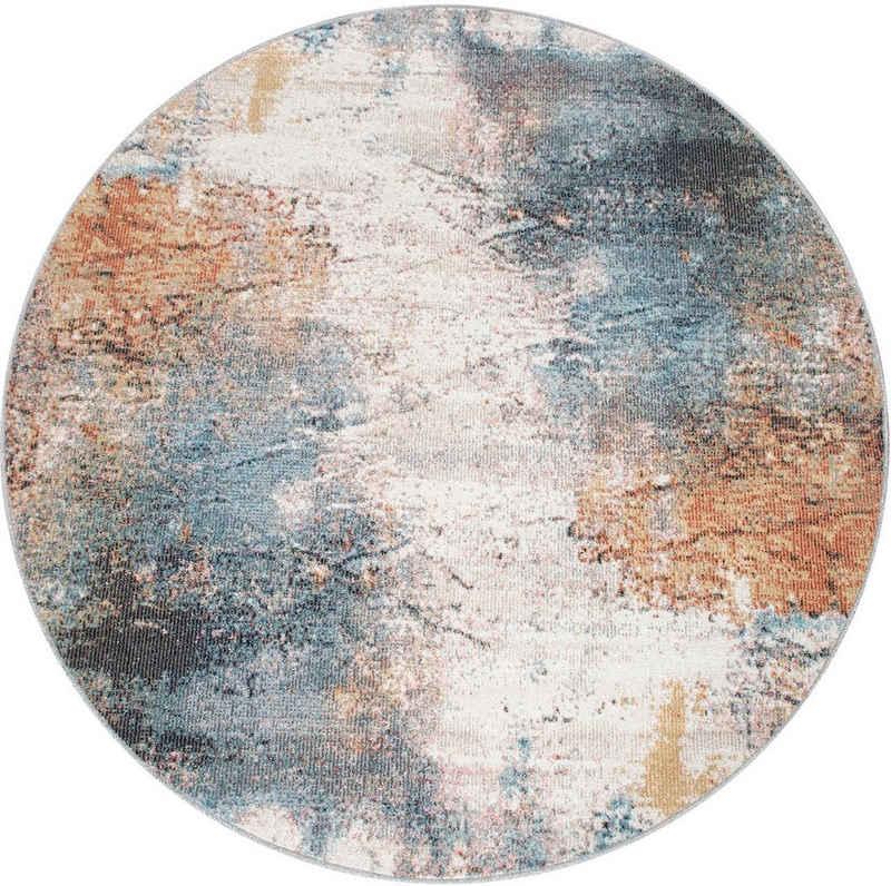Teppich »Torres 273«, Paco Home, rund, Höhe 4 mm, modernes abstraktes Design, In- und Outdoor geeignet, Wohnzimmer