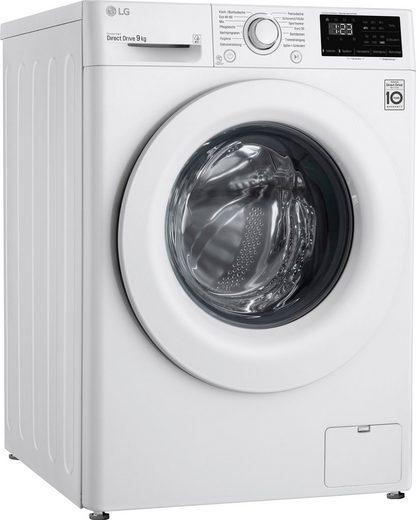 LG Waschmaschine F14WM9EN0E, 9 kg, 1400 U/min