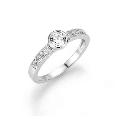 Smart Jewel Verlobungsring »wundervoll mit Zirkonia, Silber 925«