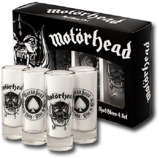 Motörhead Gläser-Set »Motörhead Schnapsgläser Shot Glass 4er BORN TO LOSE LIVE TO WIN Set Neu«