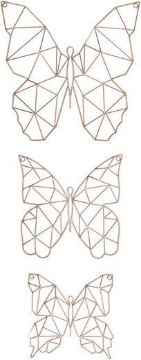Art for the home Wanddekoobjekt »Flutter« (Set, 3 Stück)