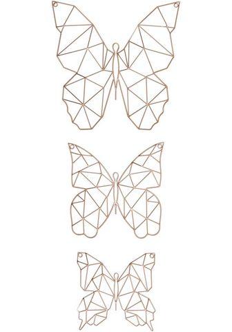 Art for the home Wanddekoobjekt »Flutter« (Set 3 vienet...