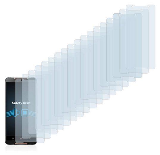 Savvies Schutzfolie »für Asus ROG Phone«, (18 Stück), Folie Schutzfolie klar