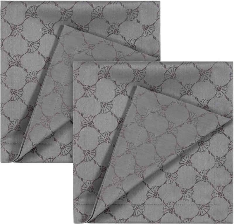 Joop! Stoffserviette »CORNFLOWER ALLOVER«, (Set, 2 St), Aus Jacquard-Gewebe gerfertigt mit Kornblumen-Allover-Muster