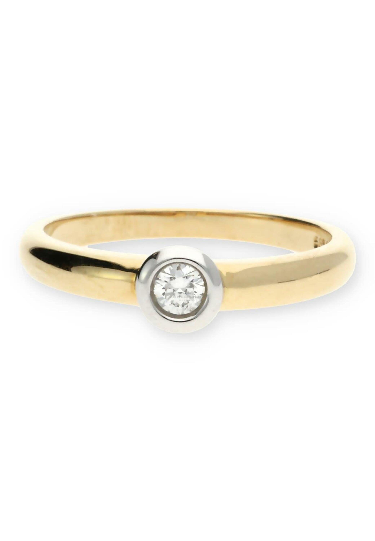 JuwelmaLux Goldring »Ring 585000 14 Karat Bicolor mit Brillant« online kaufen | OTTO