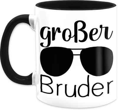 Shirtracer Tasse »Großer Bruder mit Sonnenbrille - schwarz - Tasse Geschwister - Tasse zweifarbig«, Keramik