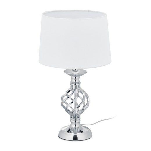 relaxdays Tischleuchte »Tischlampe modern dimmbar«