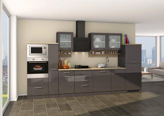 HELD MÖBEL Küchenzeile »Mailand 370GA«, mit E-Geräten, Breite 370 cm