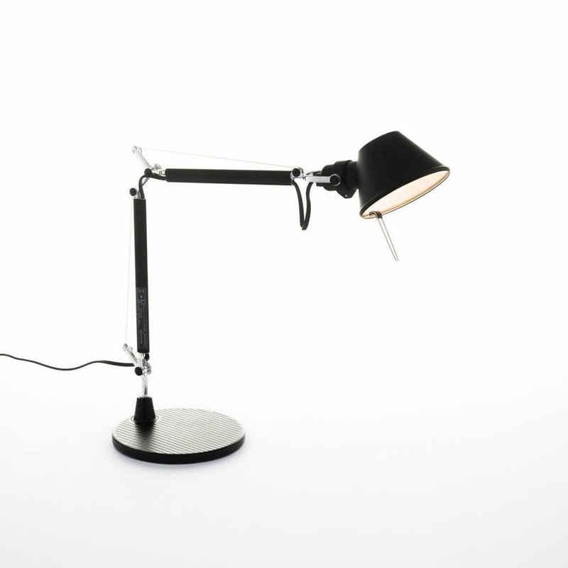 Artemide Tischleuchte »Tischleuchte Tolomeo Micro, Schwarz Aluminium, E14«, Tischleuchte, Nachttischlampe, Tischlampe