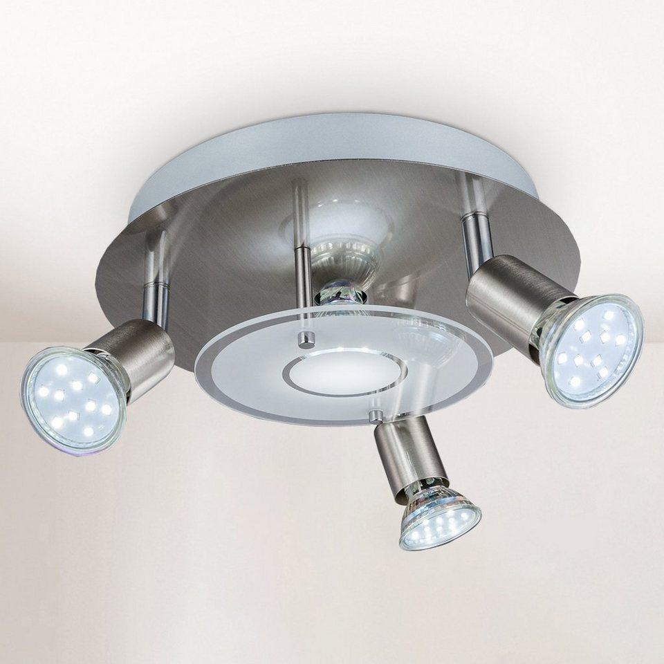B.K.Licht LED Deckenstrahler, LED Deckenleuchte rund Metall Glas Lampe  Wohnzimmer Strahler GU8 inkl. 8W 8lm online kaufen  OTTO