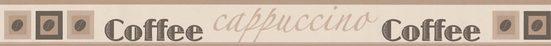 A.S. Création Bordüre »Only Borders«, aufgeschäumt, mit Schrift, mit Kaffeemotiv, selbstklebend