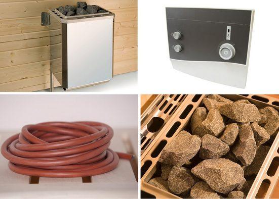 WEKA Set: Saunaofen »Technikpaket 1«, 9 kW, externe Steuerung, inkl. Zubehör