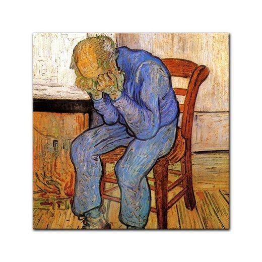 Bilderdepot24 Glasbild, Glasbild Vincent van Gogh - Alte Meister - An der Schwelle der Ewigkeit