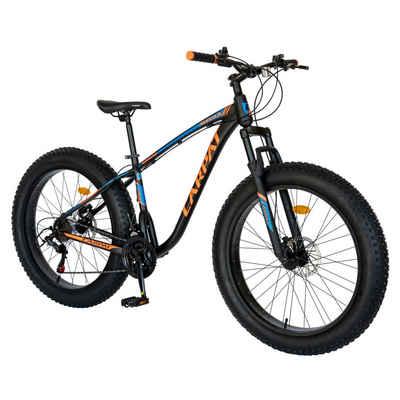 CARPAT Mountainbike »Fahrrad Herren Jungen 26 Zoll Mountainbike MTB Fatbike, Shimano Tourney TZ-500, Fette Reifen, Aluminium Rahmen, hydraulische Scheibenbremse«, 21 Gang Shimano, Kettenschaltung, (Fitnessbike Sport Outdoor)