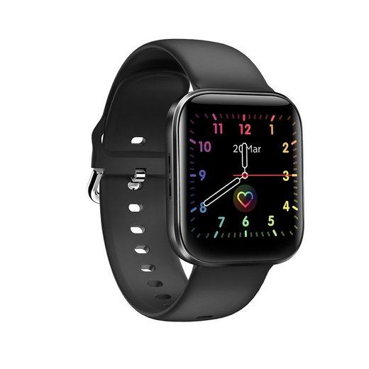 """HOAIYO GT3 Smartwatch (1.54 Zoll), Sport Smartwatch mit Temperaturmessung, Fitness Tracker, TalkBand, 1.54"""" Touchbildschirm Aktivitätstracker Sportuhr Blutdruck Messgeräte Pulsuhr Telefonuhr (Android 4.4 & iOS 9.0 oder höher)"""