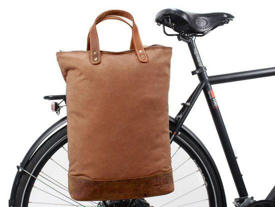 Gusti Leder Fahrradtasche »Lucien I.«, Fahrradtasche Gepäckträgertasche Shopper Ledertasche Braun Leder