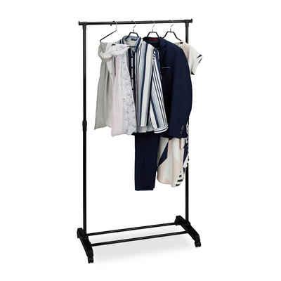 relaxdays Kleiderständer »Fahrbarer Kleiderständer mit Ablage«