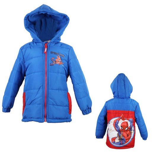 MARVEL Winterjacke »Spiderman Kinder Jacke« in Blau, Gr. 98 bis 128