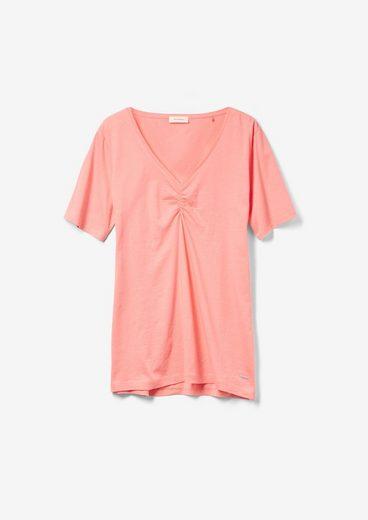 TRIANGLE Kurzarmshirt »T-Shirt mit V-Ausschnitt« (1-tlg)