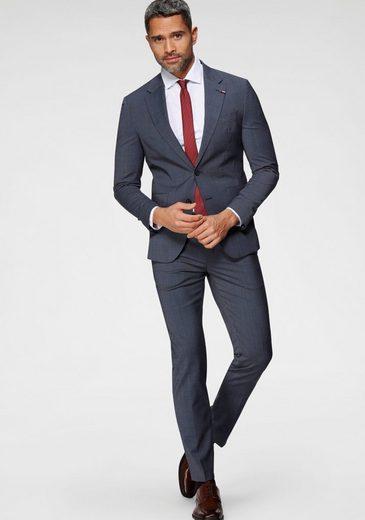 Tommy Hilfiger TAILORED Anzug »FLEX FKS LAPEL SLIM FIT SUIT« (2-tlg) zweifarbig strukturiert