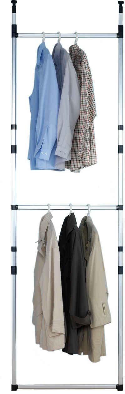 Ruco Teleskopregal, Aluminium/Kunststoff, ideal für begehbare Kleiderschränke, einfach zwischen Boden und Decke spannen