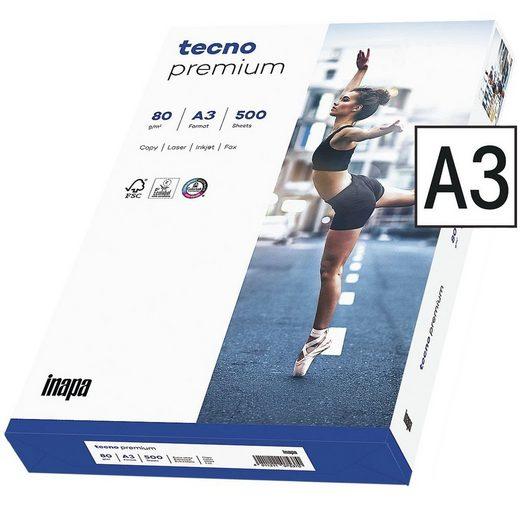 Inapa tecno Druckerpapier »Premium«, Format DIN A3, 80 g/m²