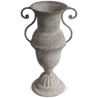 matches21 HOME & HOBBY Blumentopf »Amphore Blumenvase schlank & Griffe Metall 14 cm« (1 Stück)