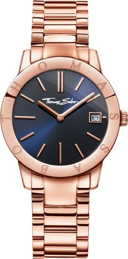 THOMAS SABO Quarzuhr »Soul Rosé Blue, WA0215-265-209-33 mm«