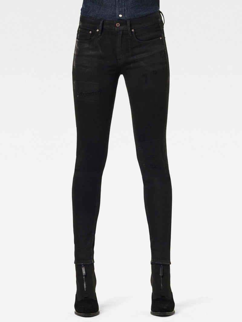 G-Star RAW Skinny-fit-Jeans »3301 Mid Skinny Jeans« klassischen 5-Pocket-Design im authentischen Westernlook