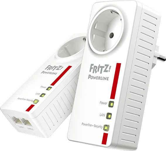 AVM »FRITZ!Powerline 1220E Set« Adapter F-Stecker, 180 cm
