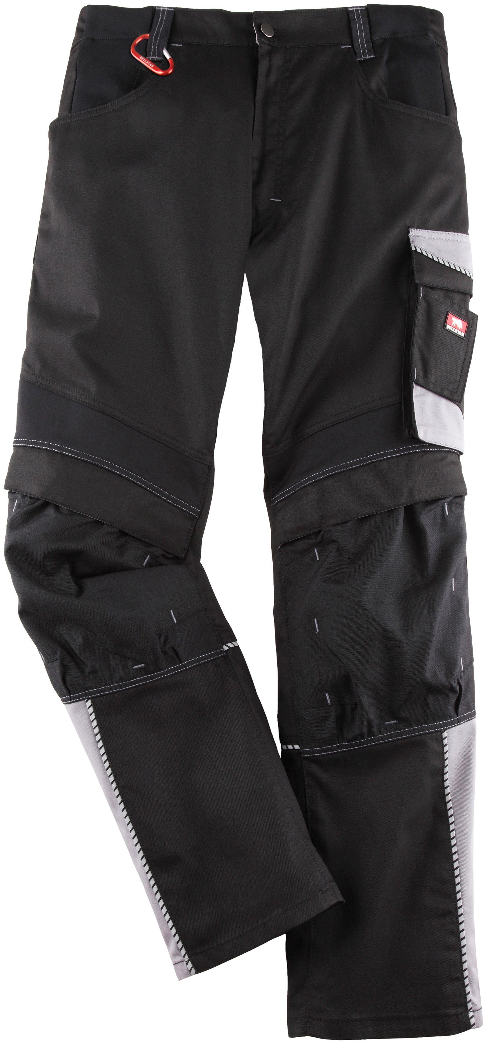 42 Herren Bullstar Arbeitshose Bundhose EVO schwarz//grau Gr