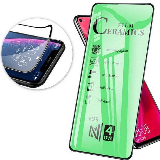 cofi1453 Schutzfolie »cofi1453 Schutzglas 9D Full Covered Keramik kompatibel mit iPhone 11 Pro Premium Tempered Glas Displayglas Panzer Folie Schutzfolie Anti-Finger«