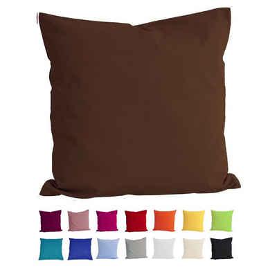 Kissenbezug »Basic«, beties, Kissenhülle ca. 40x40 cm 100% Baumwolle in vielen fröhlichen Uni-Farben (schoko)