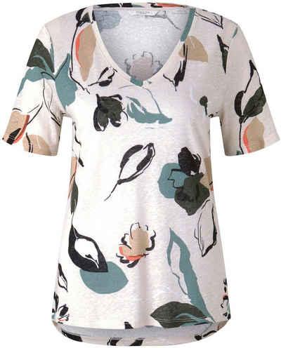 TOM TAILOR mine to five T-Shirt mit V-Ausschnitt und Blumenmuster