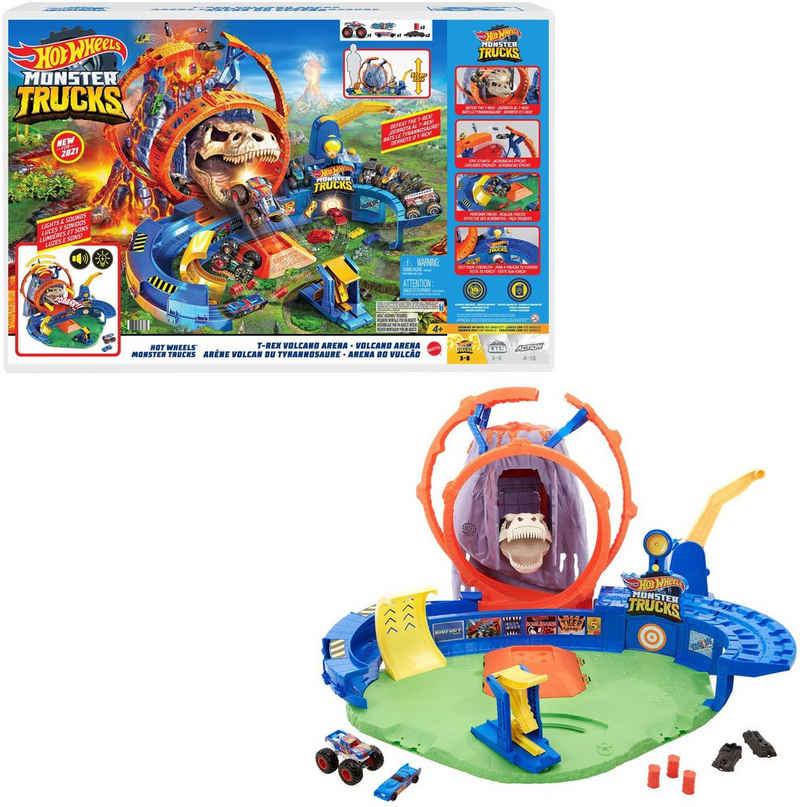 Hot Wheels Autorennbahn »Monster Trucks Vulkan Arena Spielset«, mit Spielzeugauto und Monster Truck