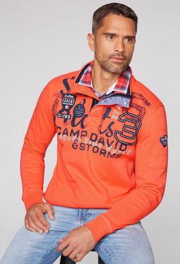 CAMP DAVID Sweater mit Reißverschluss
