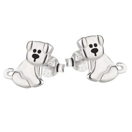 schmuck23 Paar Ohrstecker »Kinder Ohrringe Hund 925 Silber«, Kinderschmuck Mädchen Kinder Geschenk