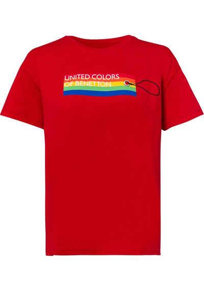 United Colors of Benetton T-Shirt mit modischem Pride-Label-Print in unterschiedlichen Dessins