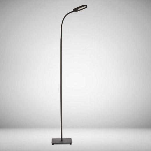 B.K.Licht LED Stehlampe, 4-fach dimmbar, Farbtemperatur wählbar, Memoryfunktion, Touch, Silikon, Flexibel