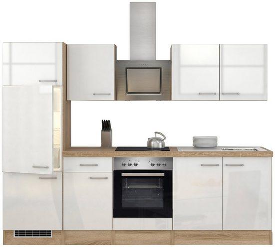 FLEX-WELL Küchenzeile mit E-Geräten »Florenz«, Gesamtbreite 270 cm
