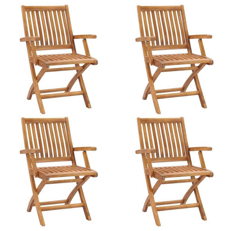 vidaXL 4-Sitzer »vidaXL Klappbare Gartenstühle«